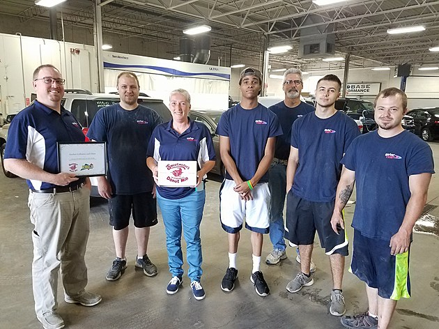 The team at Gerber Collision and Glass, the K102.5 Workplace of the Week winners